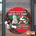 Custom Wooden Sign - Rabbitohs - Nvc97
