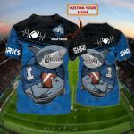 Cronulla-Sutherland Sharks - Personalized Name 3D Tshirt 101 - NVC97