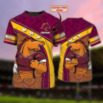 Brisbane Broncos - Personalized Name 3D Tshirt - NVC97