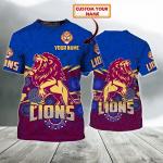 Brisbane Lions 03 - Personalized Name 3D T Shirt - NVC97