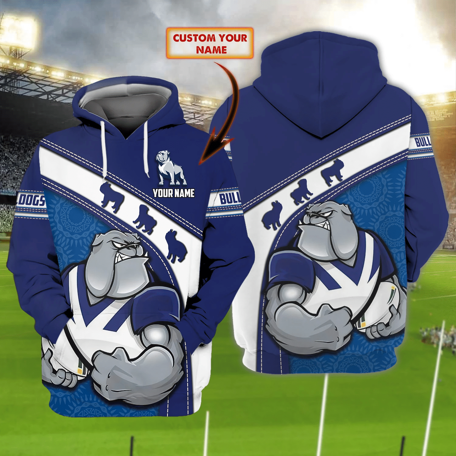 Bulldogs - Nvc97 - Personalized Name 3D Hoodie 77 - Nvc97