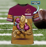 Brisbane Broncos - Personalized Name 3D T-Shirt - Nvc97