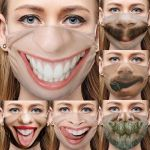 Unisex Funny Face Mask Cover Colletion-Reusable