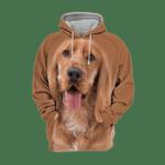 Unisex 3D Graphic Hoodies Animals Dogs Cocker Spaniel Happy