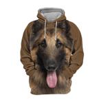 Unisex 3D Graphic Hoodies Animals Dogs  Belgian Shepherd Tervuren