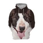 Unisex 3D Graphic Hoodies Animals Dogs Bull Terrier