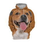 Unisex 3D Graphic Hoodies Animals Dogs Staffordshire Bull Terrier Happy