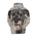 Unisex 3D Graphic Hoodies Animals Dogs Standard Schnauzer Happy