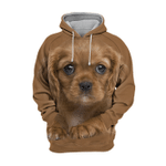 Unisex 3D Graphic Hoodies Animals Dogs Cavalier King Charles Adorable