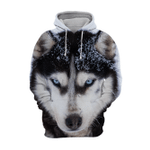 Unisex 3D Graphic Hoodies Animals Dogs Alaskan Husky Snow