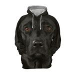 Unisex 3D Graphic Hoodies Animals Dogs Labrador Black