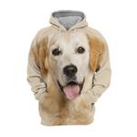 Unisex 3D Graphic Hoodies Animals Dogs Golden Retriever Lovely