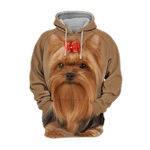 Unisex 3D Graphic Hoodies Animals Dogs Yorkshire Terrier Yorkie Adorable