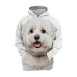 Unisex 3D Graphic Hoodies Animals Dogs Maltese