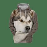 Unisex 3D Graphic Hoodies Animals Dogs Alaskan Husky Puppy Quiet