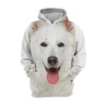Unisex 3D Graphic Hoodies Animals Dogs Swiss Shepherd White