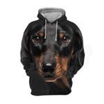 Unisex 3D Graphic Hoodies Animals Dogs Dachshund Sausage Dog Black