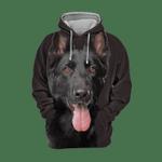 Unisex 3D Graphic Hoodies Animals Dogs German Shepherd Black