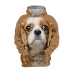 Unisex 3D Graphic Hoodies Animals Dogs Cavalier King Charles Spaniel Cute