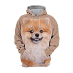 Unisex 3D Graphic Hoodies Animals Dogs Pomeranian