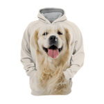 Unisex 3D Graphic Hoodies Animals Dogs Golden Retriever Smile