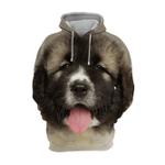 Unisex 3D Graphic Hoodies Animals Dogs Caucasian Shepherd Dog Puppy