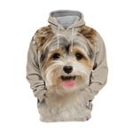 Unisex 3D Graphic Hoodies Animals Dogs Yorkshire Terrier Yorkie Happy