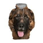 Unisex 3D Graphic Hoodies Animals Dogs German Shepherd Smile