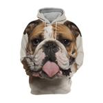 Unisex 3D Graphic Hoodies Animals Dogs English Bulldog Pitbull Face