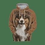 Unisex 3D Graphic Hoodies Animals Dogs Australian Shepherd Smile