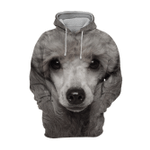 Unisex 3D Graphic Hoodies Animals Dogs Gray Toy Poodle