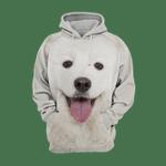 Unisex 3D Graphic Hoodies Animals Dogs Samoyed Happy