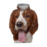 Unisex 3D Graphic Hoodies Animals Dogs Springer Spaniel Happy
