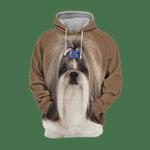 Unisex 3D Graphic Hoodies Animals Dogs Shih Tzu Quiet