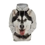 Unisex 3D Graphic Hoodies Animals Dogs Alaskan Husky Laugh