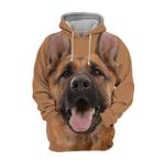 Unisex 3D Graphic Hoodies Animals Dogs German Shepherd Laugh