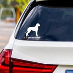 I Love Great Danes Vinyl Car Sticker