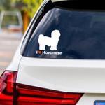 I Love Havanese Vinyl Car Sticker