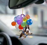 Bull Terrier fly with bubbles dog hanging ornament-Flat 2D Effect