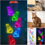 Solar Cat Wind Chime Light