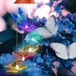 Solar-Powered Butterfly Wind Chime Lights