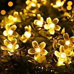 Solar-Powered Blossom Flower String Lights
