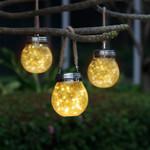 Solar-Powered Glass Jar Light