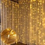Clearance Price-21.89-Curtain Lights-9.8 x 9.8 ft Curtain of String Lights with Remote