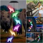 Solar Elephant Wind Chime Light