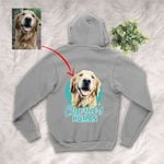 Customized Pet Colourful Painting - Human Marvelous Unisex Zip Hoodie For Pet Owners