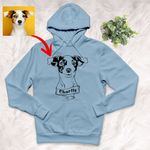 Personalized Dog Portrait Men & Women Hoodie for Dog Lovers, Gift for Dog Lover