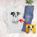 Personalized Dog Portrait Men & Women Long Sleeves for Dog Lovers, Gift for Dog Lover
