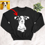 Personalized Dog Portrait Men & Women Sweatshirt for Dog Lovers, Gift for Dog Lover