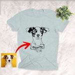 Personalized Dog Portrait Men & Women T-shirt for Dog Lovers, Gift for Dog Lover